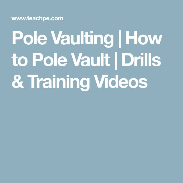 Pole Vaulting | How to Pole Vault | Drills & Training Videos