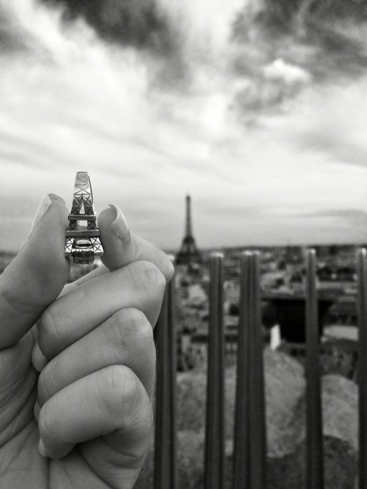 Eiffel Tower engagement ring