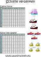 Vorlage Schiffe versenken