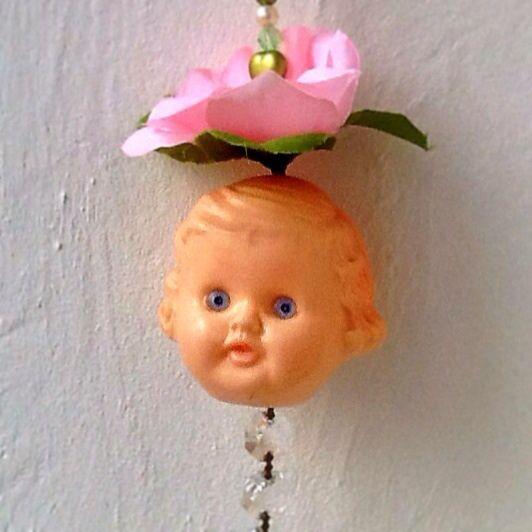 Doll, garland, flower, redesign