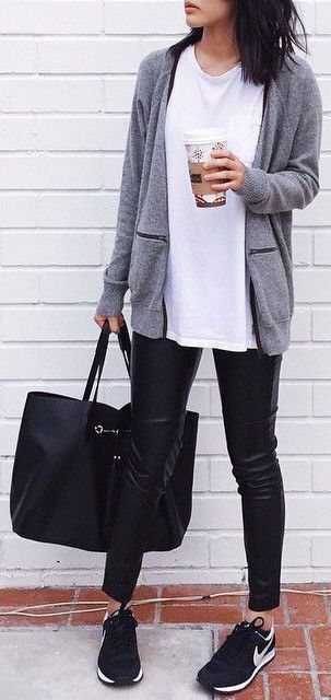 This is a great example of how to wear a tennis shoe and still look super…