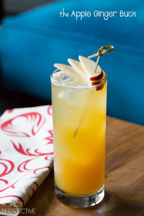 A Spicy Perspective Apple Ginger Buck Cocktail - A Spicy Perspective @spicyperspectiv