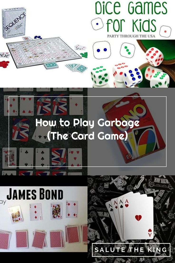 how to play garbage the card game. Great for playing with