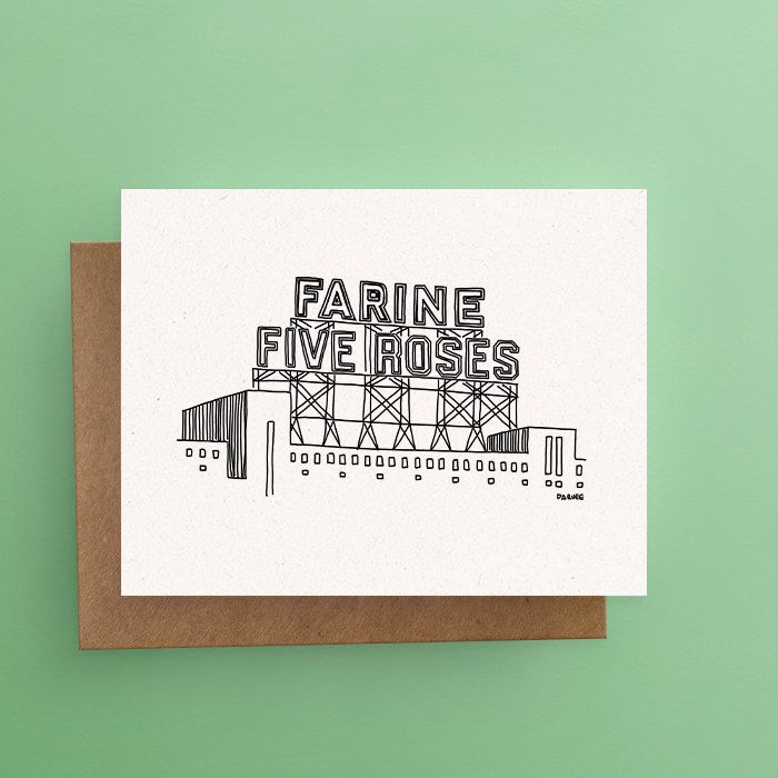 Famous Farine Five Roses Card // Love/Hate Montreal