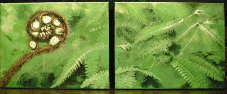 Beautiful fern that John painted for me