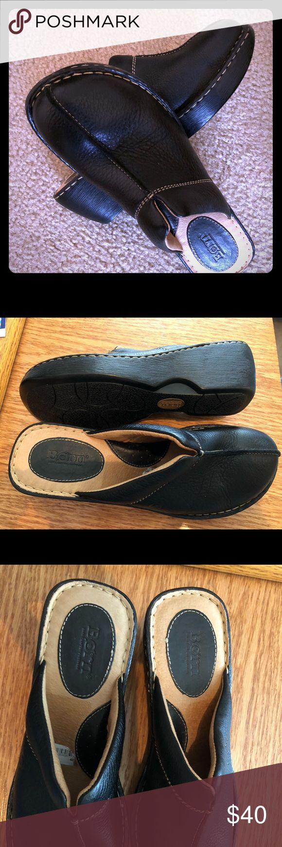 Born Classic Black Mule Clog Like New Born black classic mule clog. Like new worn very few times if at all. Leather uppers and linings with high quality outsoles that are lightweight and have shock absorbing properties. Very comfy!! Size 10/42 M/W Born Shoes Mules & Clogs