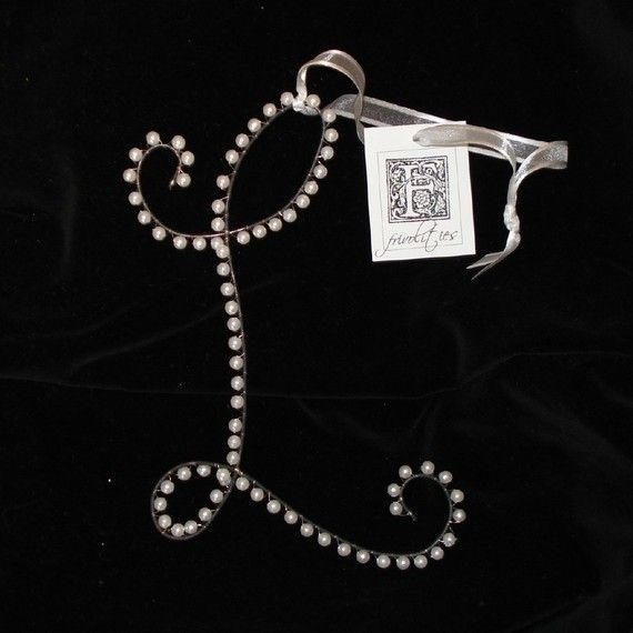 Pearl Letter L Ornament Monogram Initial - All Letters Available by myfrivolities, $10.00