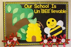 "Welcome Back To School Bulletin Boards Ideas - I would change this to say ""Our Class is Un-Bee-lievable"". Each student could make a bee to go on it."