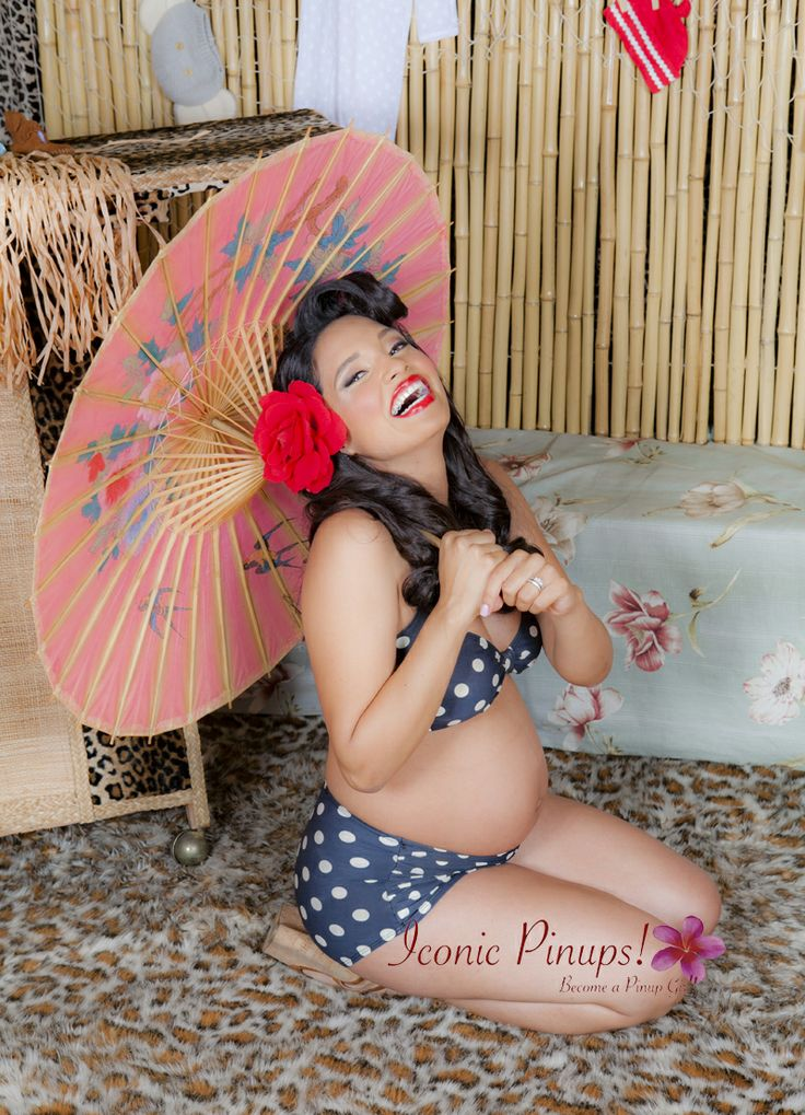 Tiki Maternity shoot at the Vintage location @Nichelle Tomalewicz pinups