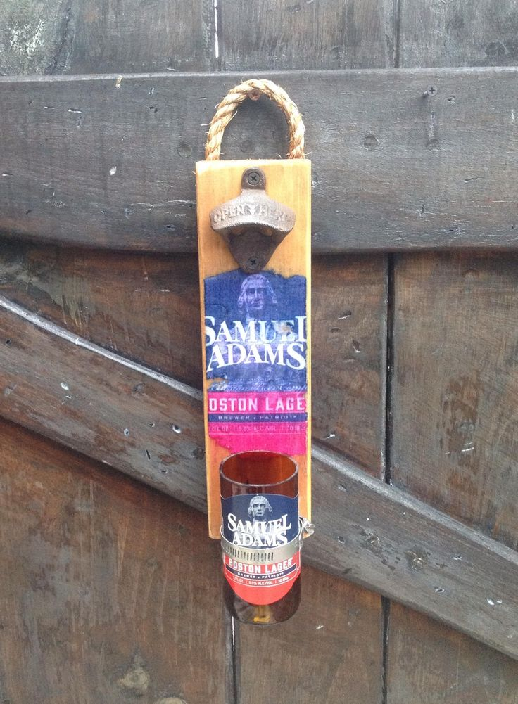 Samuel Adams Boston lager Wall Bottle opener ... Pop them caps with style .. Custom orders welcome .. by GlassNthings420 on Etsy