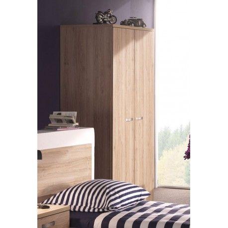 Superbe armoire à 2 portes ouvrantes composée d'une penderie, d'une étagère inférieure et supérieure . Elle est fabriquée en panneaux mélaminés de haute qual...