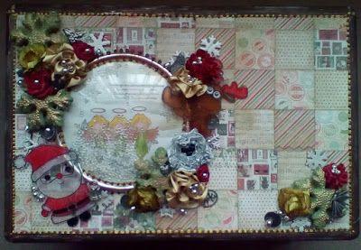 Christmas book box by Gemma Hynes #Christmasdecorations #inkykitty #christmasevebox