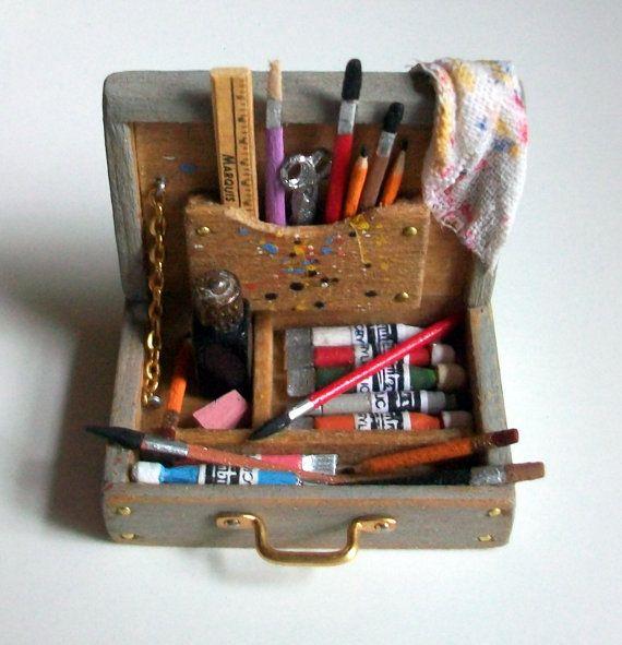 miniature artist paint box - marquis miniatures