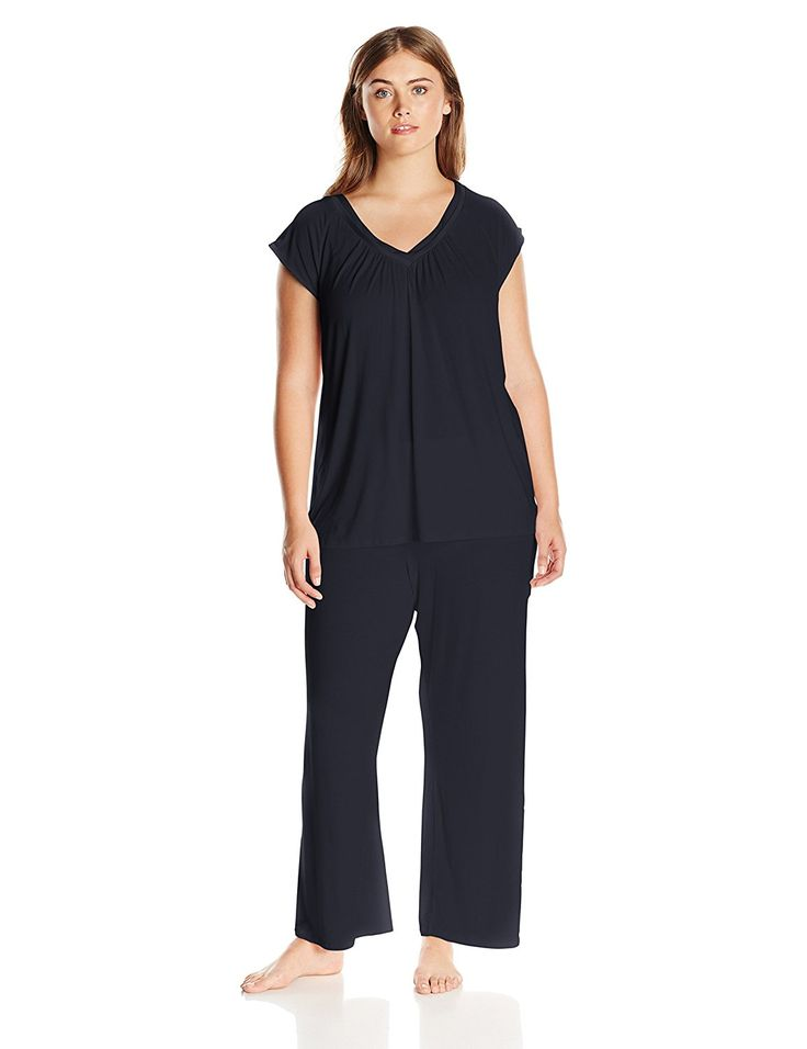 Midnight by Carole Hochman Women's Plus-Size Modal Pajama ** See this great image  : Plus size tops