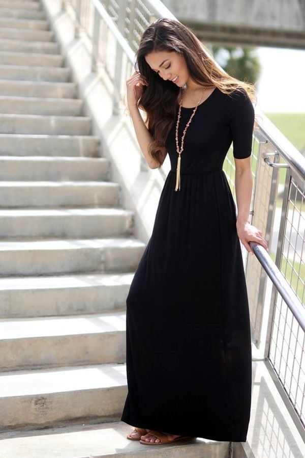 25  best ideas about Black dress with sleeves on Pinterest ...