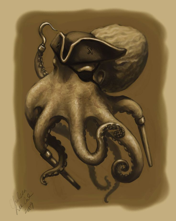 Pirate Octopus by Chelsea Conlin