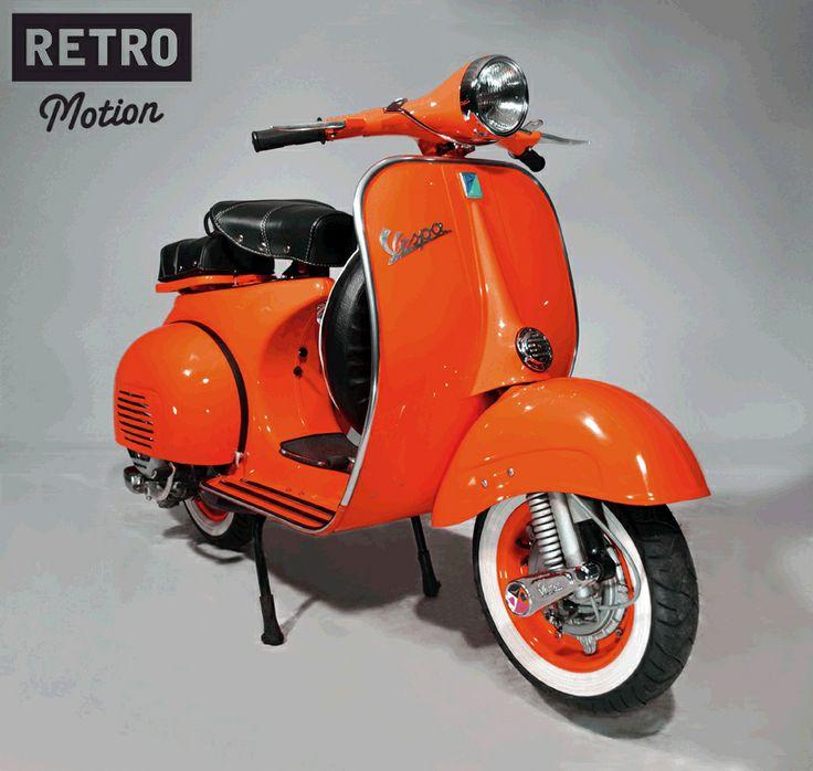 104 best orange paint vintage vespa scooters images on. Black Bedroom Furniture Sets. Home Design Ideas