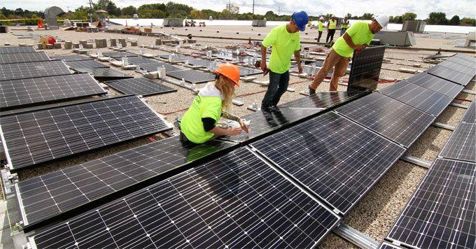 The Family That Installs Solar Panels Together Solves Climate Change Together Solar Panels Best Solar Panels Solar