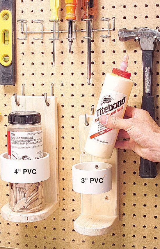 To hold glue bottles