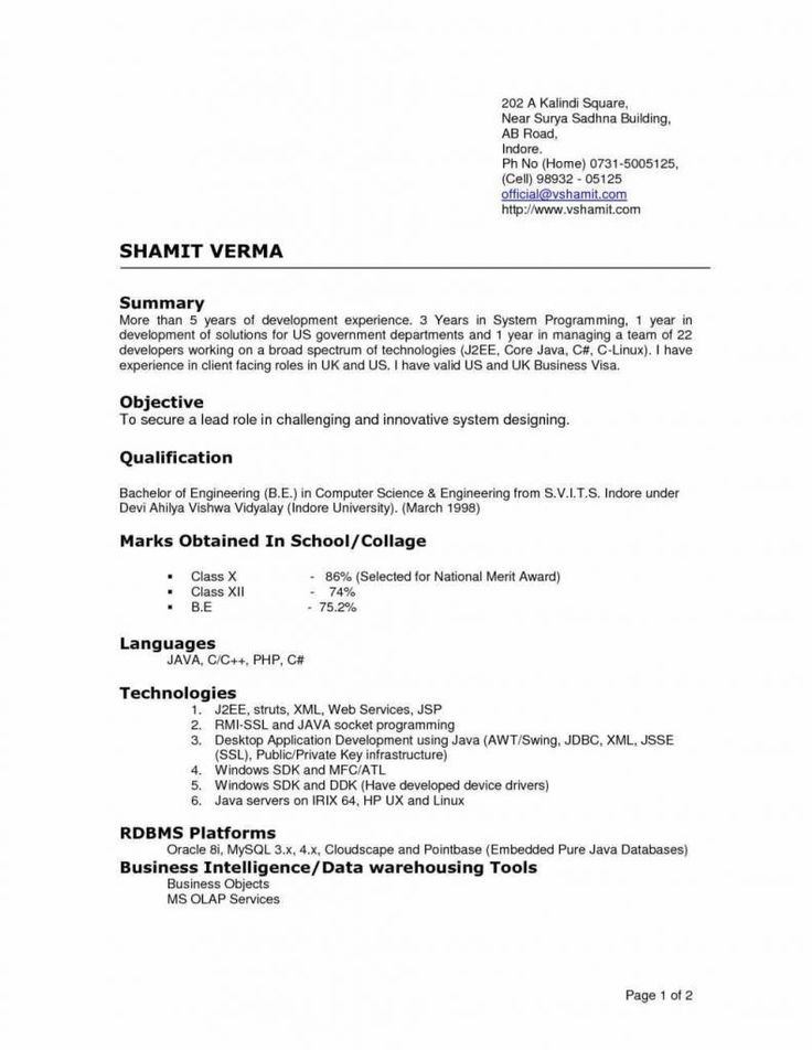 proper resumes resume format example within badak