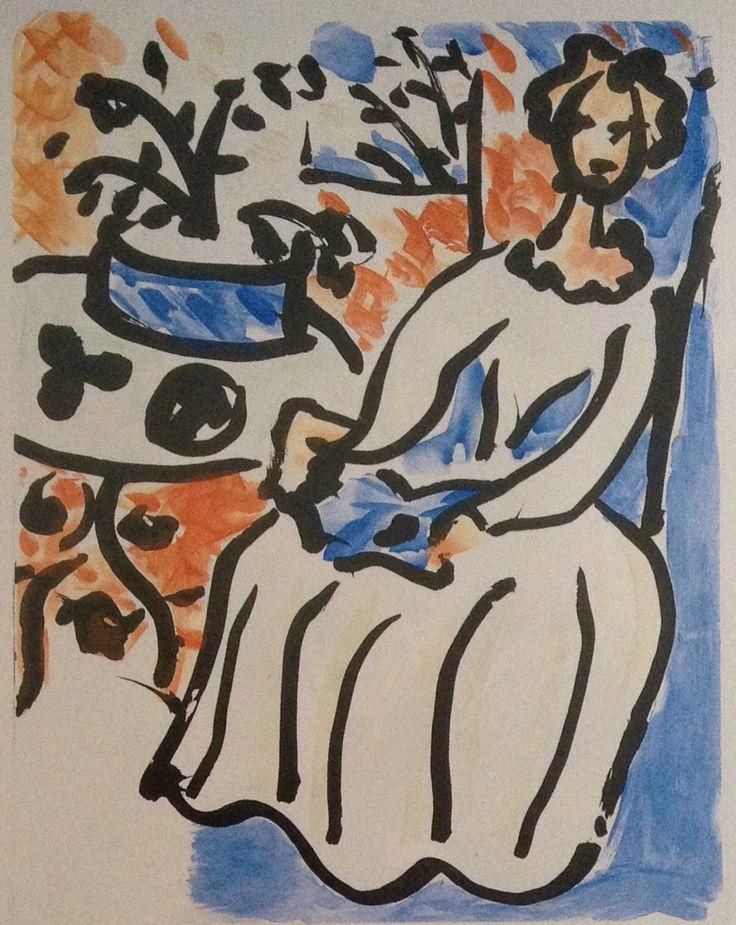 Henri Matisse, 'Marie Jose en Robe Jaune',1950, colour aquatint etching.