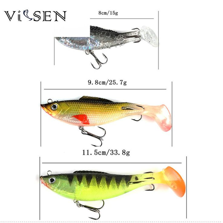 Vissen Long Tail Soft Lead Fish Fishing Lures 15G 80mm Sea Fishing Tackle Soft Bait Bass Hook T-tail Pack Lead Fish