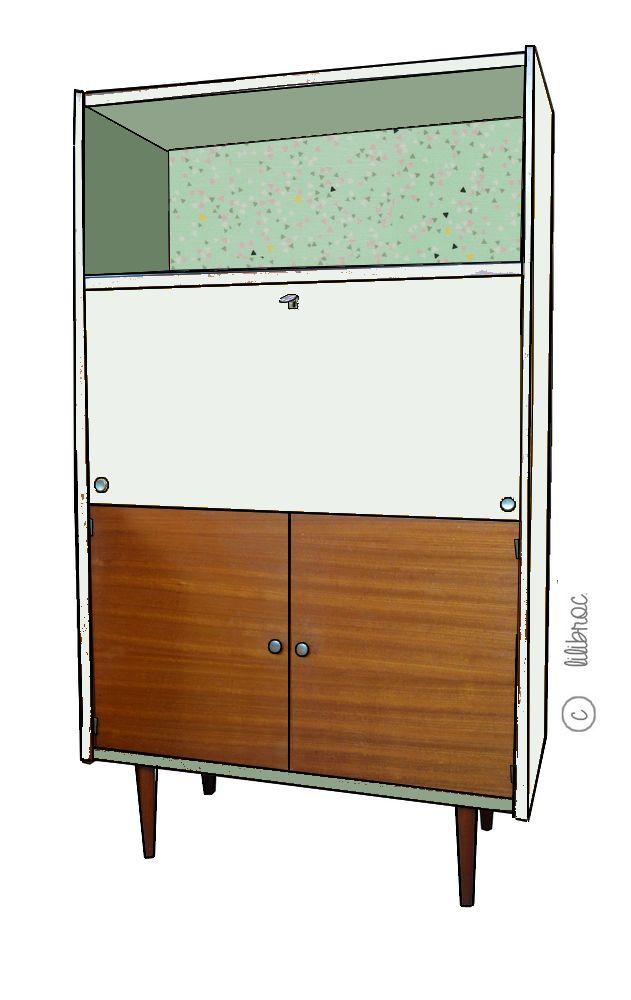 215 best meubles vintages lilibroc images on pinterest. Black Bedroom Furniture Sets. Home Design Ideas