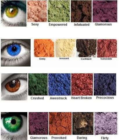Eye shadows that complement your eye color beautifully.