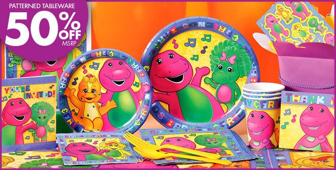 PartyCity Barney theme supplies