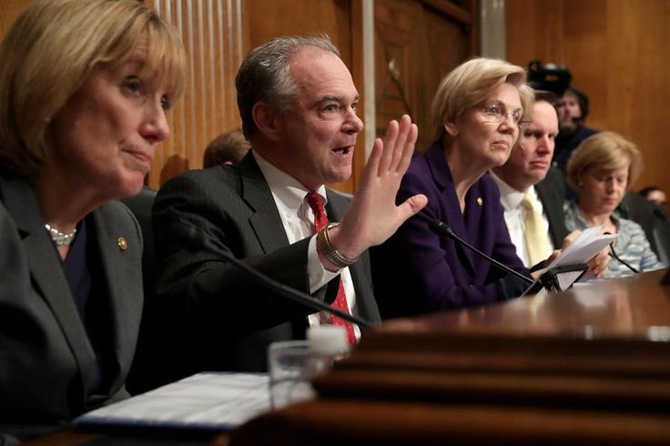 1/18/2017 Confirmation hearings have given Senate Democrats, like Tim Kaine and Elizabeth Warren, a chance to hone their party's opposition message.