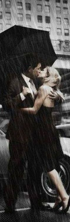 Kisses in the rain... oldest and most romantic!