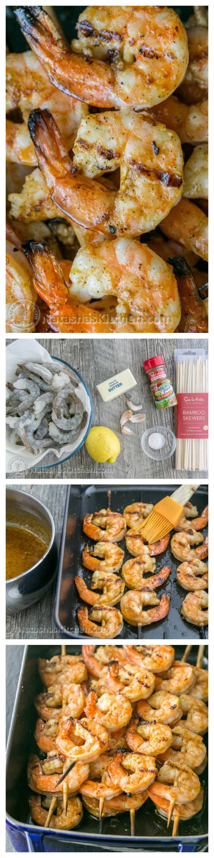 (Irresistibly delicious) Grilled Garlic Cajun Shrimp Skewers | NatashasKitchen.com