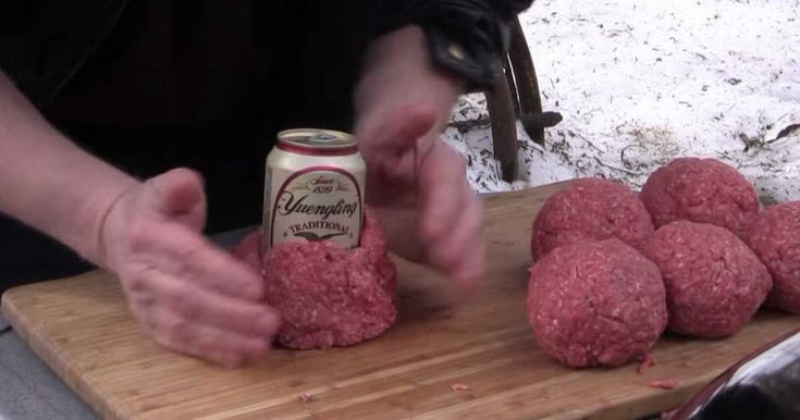 Use A Beer Can To Make A Stuffed Bacon Burger - BBQ season is starting. Get it off to a great start with this new recipe from the BBQ Pit Boys.