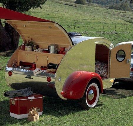 Ten Adorable Vintage Teardrop Campers  Vintage Teardrop via Pinterest :: Favorite Places & Spaces
