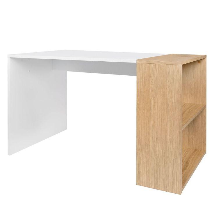 Schreibtisch Zoelen   Matt Weiß / Eiche Jetzt Bestellen Unter:  Https://moebel