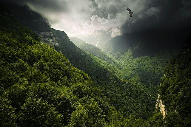 """Abruzzi. Valle dell'orfento. Italy.  """"Un giorno, a Santo Spirito, fra'Cesare me disse che, a diferrenza del Gran Sasso la Majella è una montagna femmina perchè, per apprezzarne a pieno la bellezza, bisogna entrarci dentro"""" June 2008. paraluci's flickr photostream"""