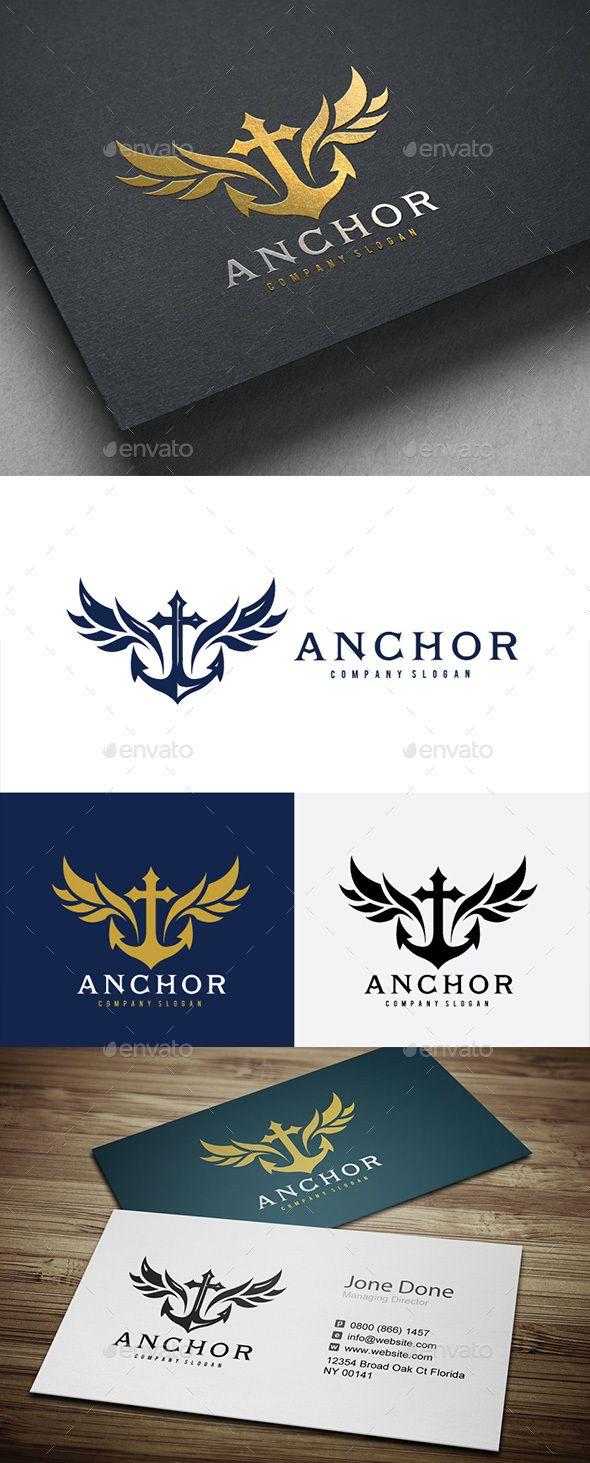 Anchor Logo Template PSD, Vector EPS, AI Illustrator. Download here: https://graphicriver.net/item/anchor-/17377912?ref=ksioks