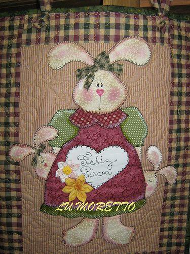 Painel mamãe coelha | DESENHOS criação Lu Moretto | Patch Retalhos - LU MORETTO | Flickr