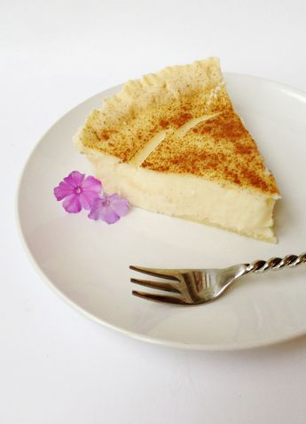 This recipe for South African Milk Tart is a classic Afrikaans dish. It's a creamy, delicate pie that would be delicious at tea time or for dessert.