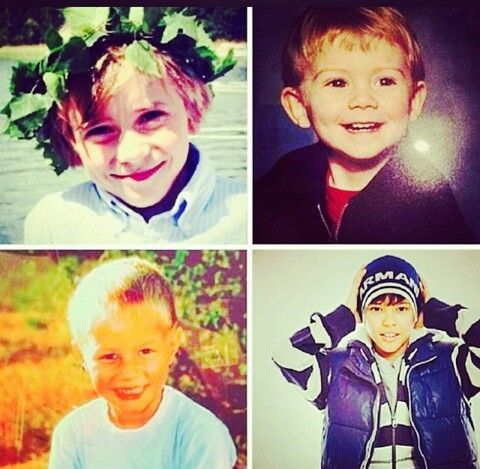 The Fooo Conspiracy when they were little. So cute! Aww... :)
