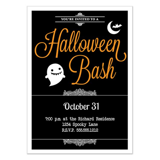 Invite Everyone to Your Halloween Party With These Free Online Invites: Halloween Bash Invitation from Charming Ink