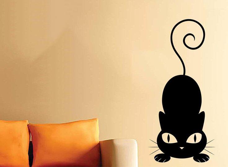 adesivo murale gatto per la casa
