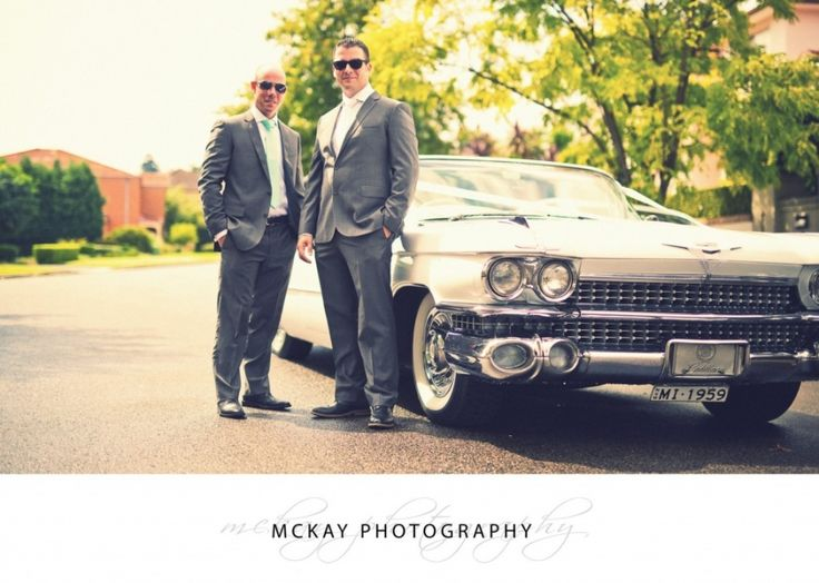 Clint and the very cool Cadillac he hired for his wedding at Long Reef  #caddy