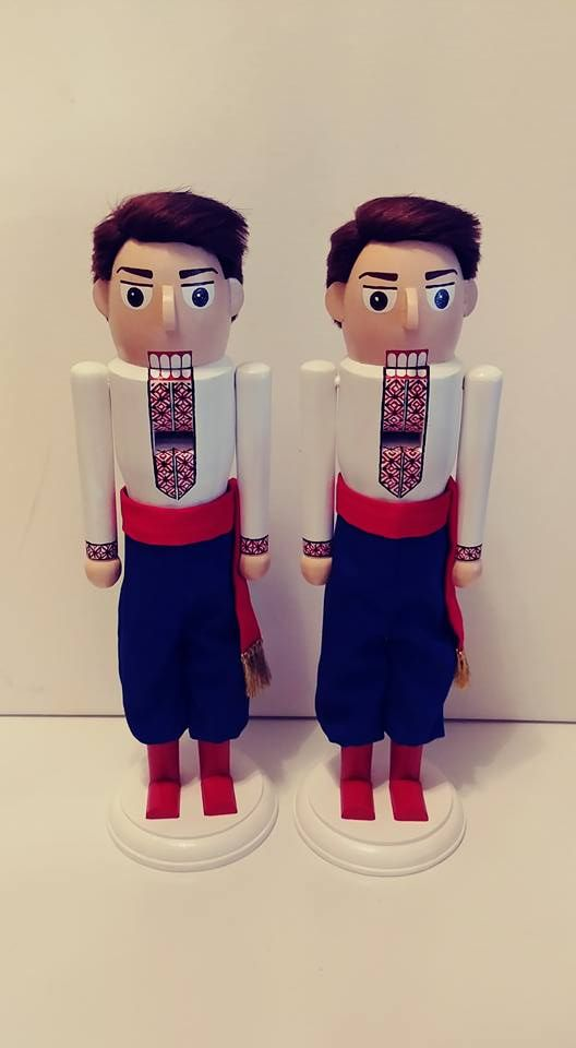 Custom Ordered Ukrainian Dancers from Really Cool Nutcrackers on Etsy