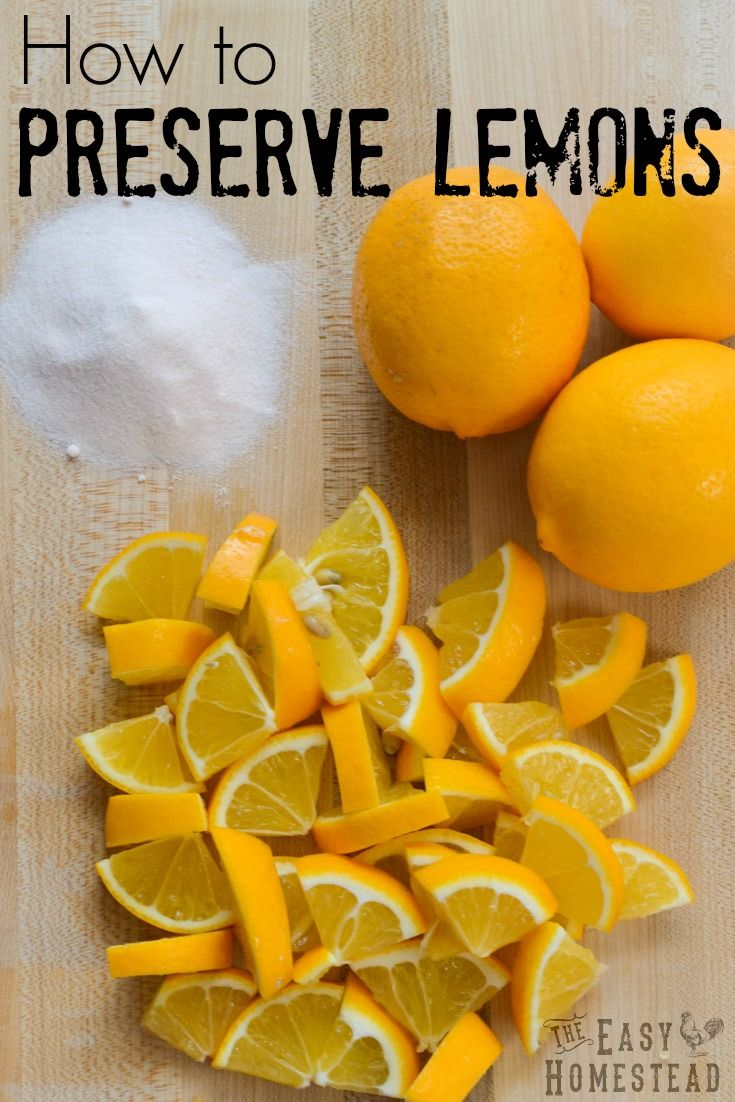 How to Preserve Lemons | The Easy Homestead (.com)