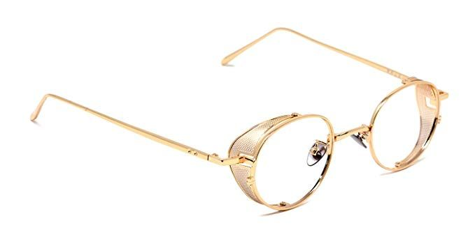 d036b142df6 TIJN Vintage Circle Non-Prescription Eyewear Metal Eyeglasses Review ...