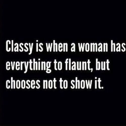 Yes. Rich does not mean classy