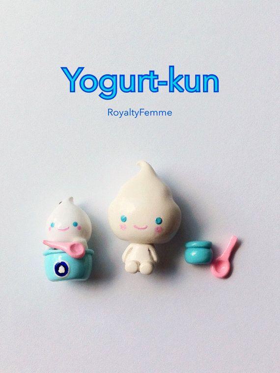 SanX Yogurt kun Yogurtkun Polymer Clay Charms or by RoyaltyFemme, $5.00