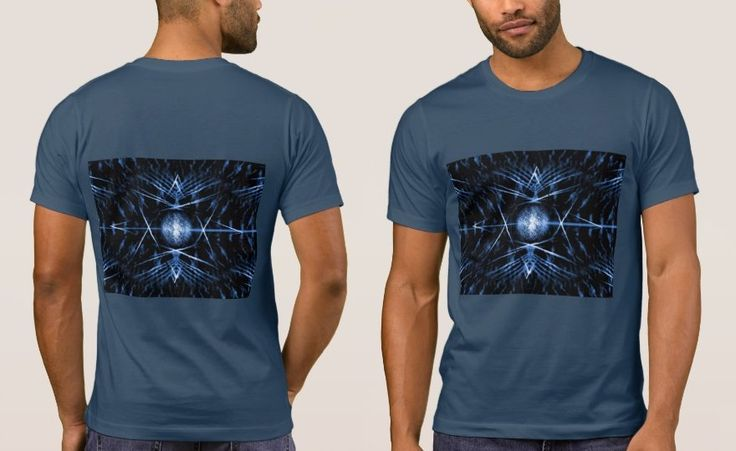 Men's Midnight Blue T-Shirt with Black and Midnight Blue Digital Graphic Art