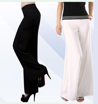 La mia scelta ed i miei gusti nel campo della moda, per classe ed elegante. Anche taglia XL. Ninni - plus size pantaloni lunghi pantaloni di chiffon pantaloni gamba larga pantaloni di ballo chiffon di doppio strato pantaloni brevi pantaloni & capris(China (Mainland))